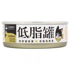 汪喵星球 - 貓咪低脂主食罐 雞肉泥 貓罐頭 80g x 3罐