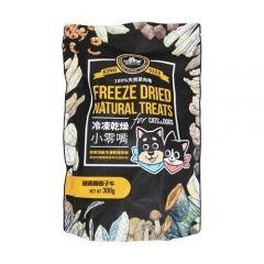 汪喵星球 - 冷凍脫水小食 紐西蘭骰子牛 犬貓適用 300g 家庭裝