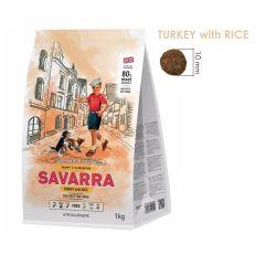 SAVARRA - 英國 火雞 + 糙米幼犬糧 (1-12個月) - 1kg