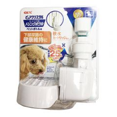 GEX - Japan Pure Crystal Drink Bowl for Dog (Deep Dish) DDCB171M170