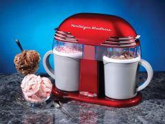 Nostalgia Electrics Retro Double Ice Cream Maker DIC200 DIC200