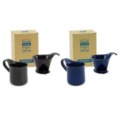 ZERO JAPAN - [Made in Japan]Coffee Dripper L & Cafe mug L (2 colors option) DMZ-15