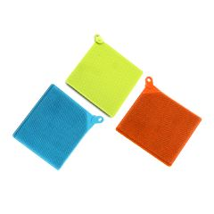 Dr. Cook - Silicone Multi-Use Cleaning Cloths Dishcloth (Set of 2) - Random Colors DR1025