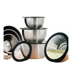 Dr. Cook - Stainless Steel Mixing Bowl with Glass Lid (20cm/24cm) DR1110-MO