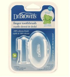 Dr Brown's - Silicone Finger Toothbrush with Case DR-HG010