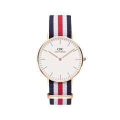 DW Classic Canterbury Watch RG White 36mm DW00100148