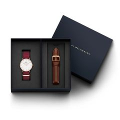 DW Gift Set (Classic Roselyn Watch RG White 36mm+  Classic St Mawes strap 36mm DW00500326