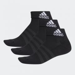 adidas Cushioned Ankle Socks 3 Pairs - Black DZ9379