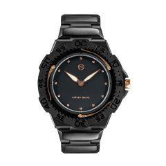 NOVE Trident Swiss Made Quartz Diver Watch for Men (Black Gold E003-02) E003-02