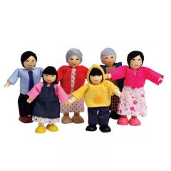 Hape 娃娃屋亞洲人家庭 E3502