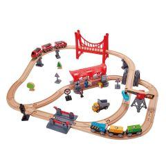 Hape 火車軌道多功能套 E3730