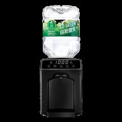 屈臣氏蒸餾水 - 家居水機 - Wats-Touch Mini 溫熱水機 (黑) + 8公升樽裝蒸餾水 x 48樽(電子水券)