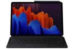 Samsung Galaxy Tab S7+ 書本式鍵盤保護套 黑色