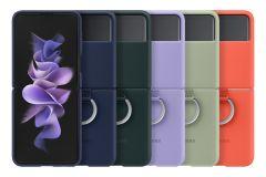 Samsung Galaxy Z Flip3 5G 矽膠薄型背蓋(附指環扣)