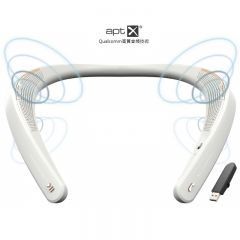 EM-Tech - My Theater Bluetooth Wearable Neckband Speaker - Dongle Version - White EM-W100UWH_B