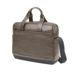 Moleskine - CLASSIC LEATHER BRIEFCASE COFFEE BROWN ET74UBCP2