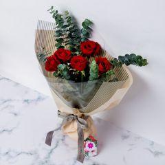 Gift Flowers HK - 精緻紅玫瑰花束 FB160002