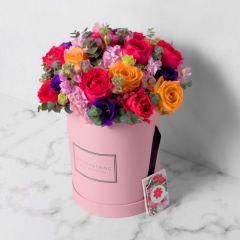 Gift Flowers HK - 季選鮮花配圓形禮盒 FB160019
