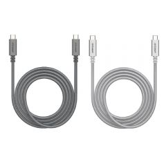 FIRST CHAMPION USB-C to USB-C Charging Cable 2M (100W Type-C) TC2CE-NY200 (2 Colors) FC-TC2CE-NY200-all