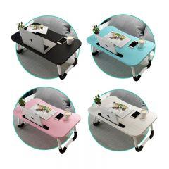 Goto - 移動式摺疊卡槽電腦枱茶几(B2525) (4色可選)