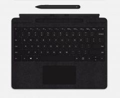 Surface Pro X Signature鍵盤 英文版 (黑色)與Surface 超薄手寫筆 (黑色)