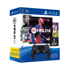 DUALSHOCK®4 Wireless Controller EA SPORTS™ FIFA 21 Voucher Bundle