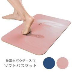 FIST - [Made in Taiwan]Soft Diatomite Vermiculite Absorption Foot Pad (Blue/Pink) FIST_foot_pad