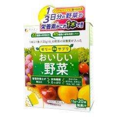 FINE JAPAN ® - Veggie Jelly (Orange Flavor) 300g (15g×20 sticks) FJ-363