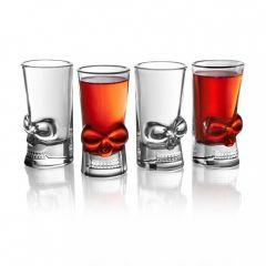 Final Touch - 骷髏頭造型玻璃烈酒杯 44ml(4隻裝) FTA1861