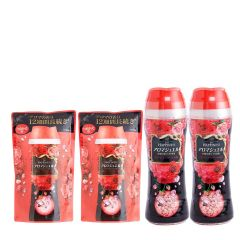 lenor - [Combo Set] Fabric enhancer Happiness beads morning rose 520ml x2 + Refill 455ml x2 G00109