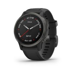 Garmin Fenix 6s Sapphire Carbon Grey DLC with Black Silicone Band - Chinese G010-02159-7B