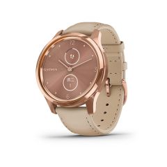 Garmin Vivomove Luxe Rose Gold with Beige Leather - Chinese G010-02241-61