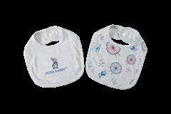 Peter Rabbit --【漫遊倫敦系列】100%精梳棉圍兜2件裝 G08-PRB02S-000-FE
