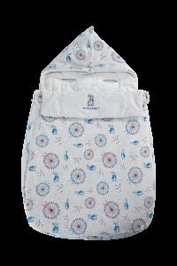 Peter Rabbit -【漫遊倫敦系列】100%精梳棉初生3D抱被睡袋   G08-PRNBN01-FE