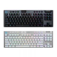 Logitech - G913 TKL LIGHTSPEED Wireless RGB Mechanical Gaming Keyboard (Tactile) (Carbon / White) G913TKLTac_all