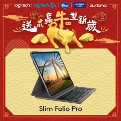 Logitech - Slim Folio Pro for iPad Pro 3rd/4th Gen (12.9-inch) GC920-009722