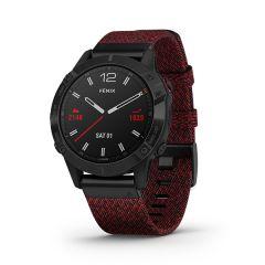 Garmin - Fenix 6 藍寶石頂級多功能運動 GPS智能手錶 (英文) (黑色錶圈DLC配紅色尼龍錶帶) GM_FENIX6I_RD