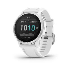 Garmin - Fenix 6S 頂級多功能運動 GPS智能手錶 (繁中/簡中/英文) (銀色錶圈配白色矽膠錶帶) GM_FENIX6SC_SVWH