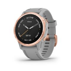 Garmin - Fenix 6S 藍寶石頂級多功能運動 GPS智能手錶 (英文) (玫瑰金錶圈配灰色錶帶) GM_FENIX6SI_GYG