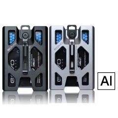 GOVO - Badge Holder & Wallet - Alumium GOVO_AL