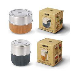 black+blum - 玻璃食物碗連不銹鋼蓋 450ml/600ml(微波爐適用) (2色可選) GR-LB-SM