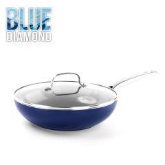 H01651 Blue Diamond™ - 28cm Wokpan With Glass Lid CC002742