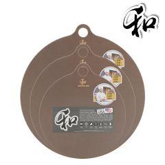 Wo Kirin - WO Star Series Coca Round Cutting Board H02961_all