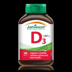 Jamieson 維他命D3 1000IU 100粒 H3281102200