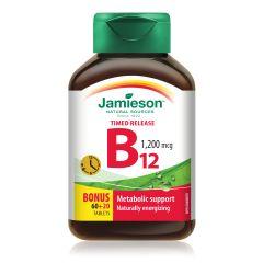 Jamieson 維他命B12長效時釋片1200微克80粒 H3281202823