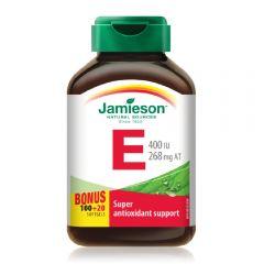 Jamieson Vit E 400IU Cap + Bonus 120s H3281432037