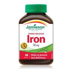 Jamieson Iron 50mg Timed Release 60S  H3281612496