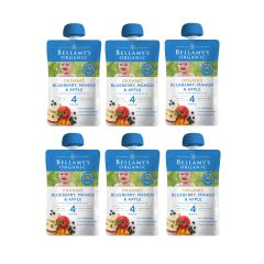 Bellamy's Organic - 貝拉米有機藍莓芒果蘋果蓉 (4個月或以上) (原箱6件) (食用期至2021年5月22日) H6680051017