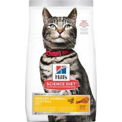 希爾思寵物食品 - 成貓 Urinary Hairball Control 泌尿道健康和去毛球 乾貓糧 (3.5lb / 15.5lb) Hills-CatAduUHCDF