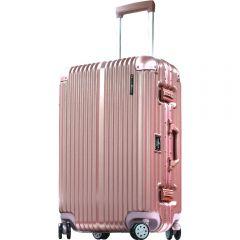 Hallmark Design Collection 4輪20吋金屬鋁框行李箱(玫瑰金色)(HM828FT)